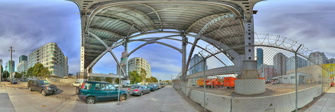 Panorama Photography, under the Bay Bridge